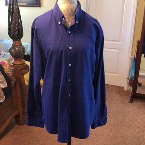 Men Ralph Lauren Button Shirt XL Custom Fit